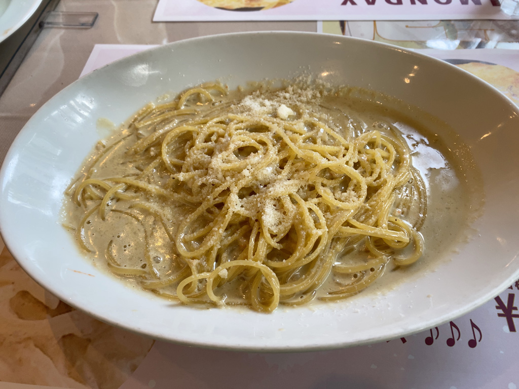 カニミソのスパゲッティーニ(クリームソース)
