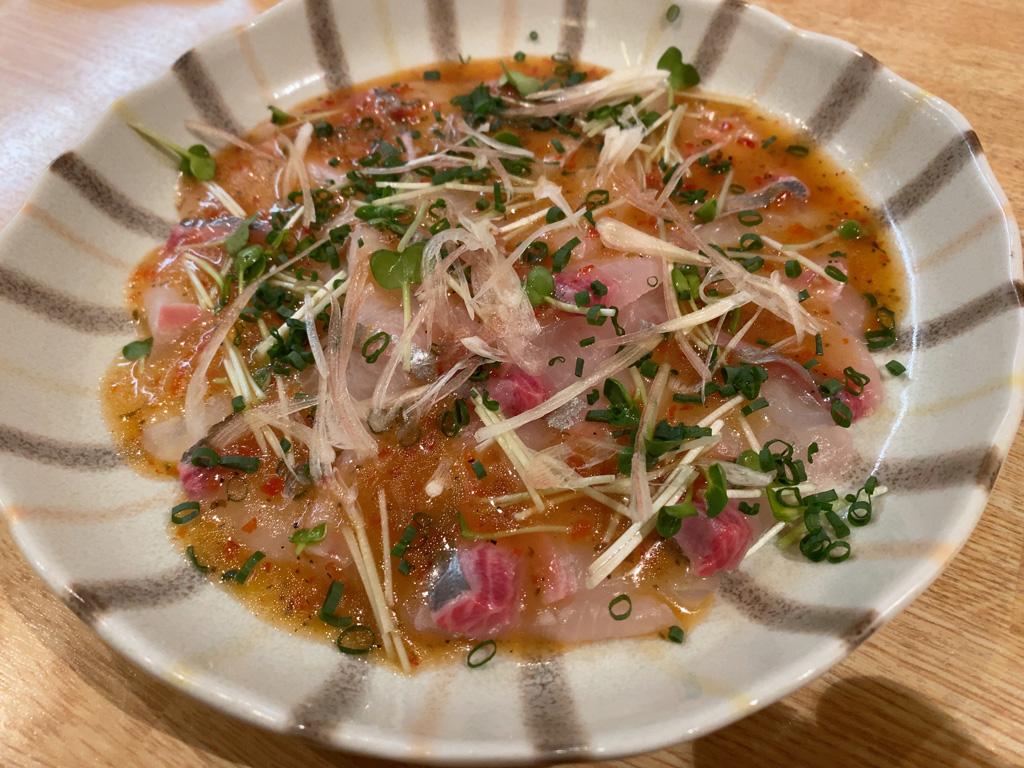白身魚カルパッチョ 700円