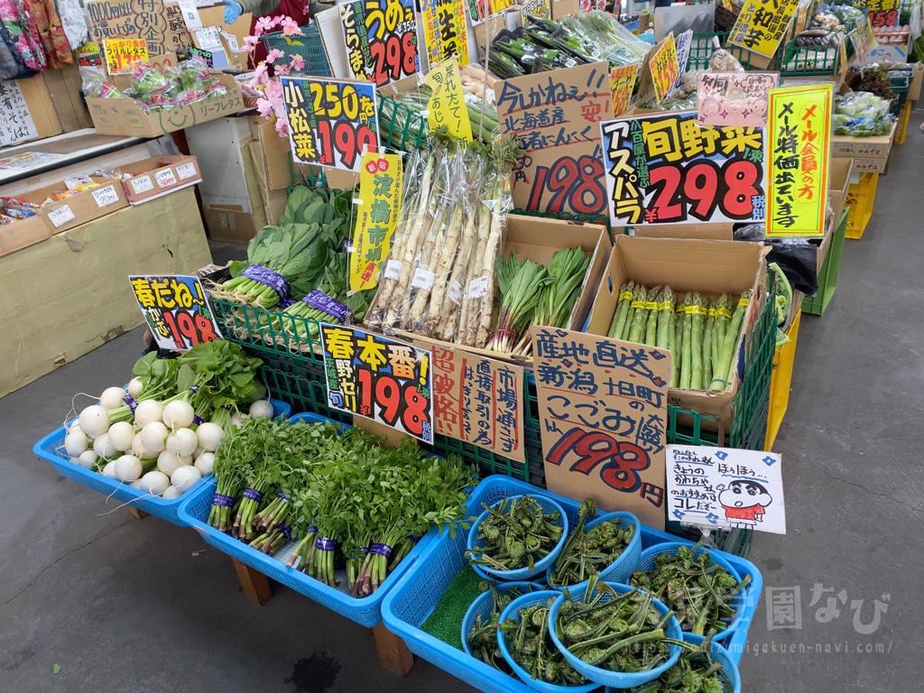 河内屋学園店の旬な野菜