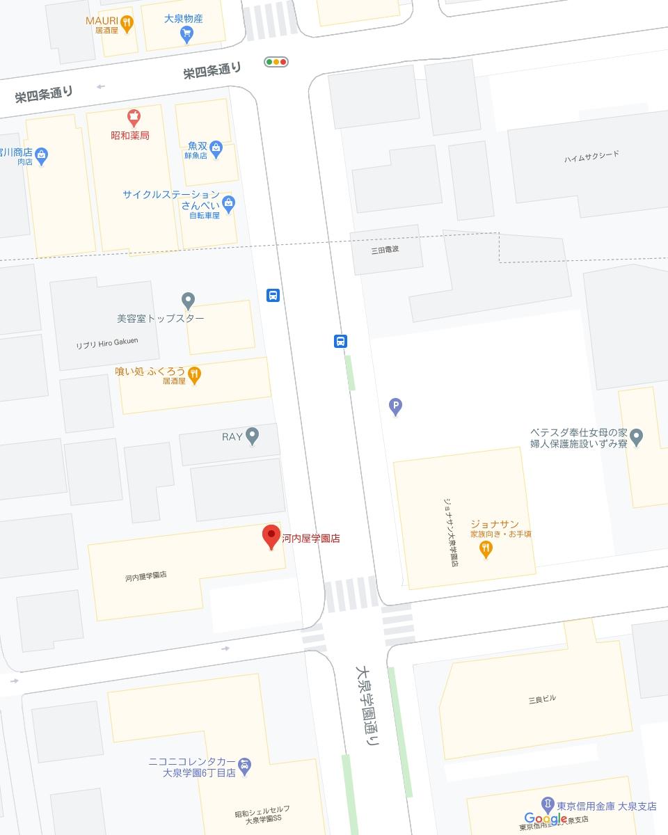 河内屋学園店 地図